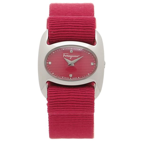 フェラガモ 腕時計 レディース Salvatore Ferragamo FIE990016 レッド シルバー