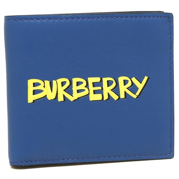 バーバリー 折財布 メンズ BURBERRY 4076278 40900 ブルー