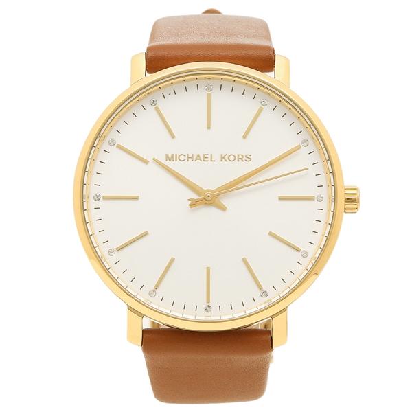 【4時間限定ポイント5倍】マイケルコース 腕時計 レディース MICHAEL KORS MK2740 ブラウン ホワイト イエローゴールド