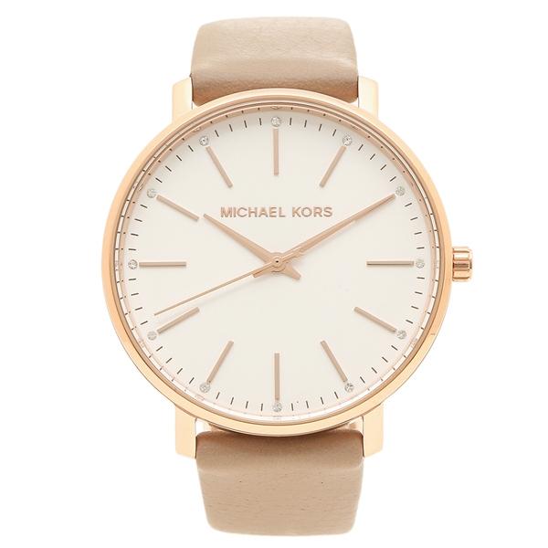 【4時間限定ポイント5倍】マイケルコース 腕時計 レディース MICHAEL KORS MK2748 ベージュ ローズゴールド ホワイト