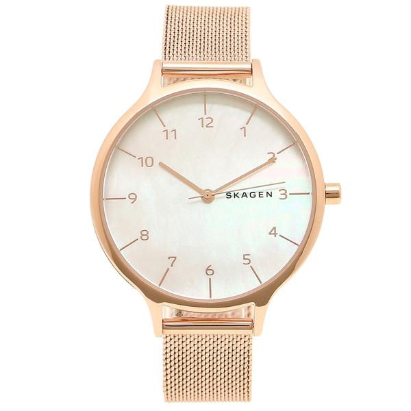 スカーゲン 腕時計 レディース SKAGEN SKW2633 ローズゴールド パールホワイト