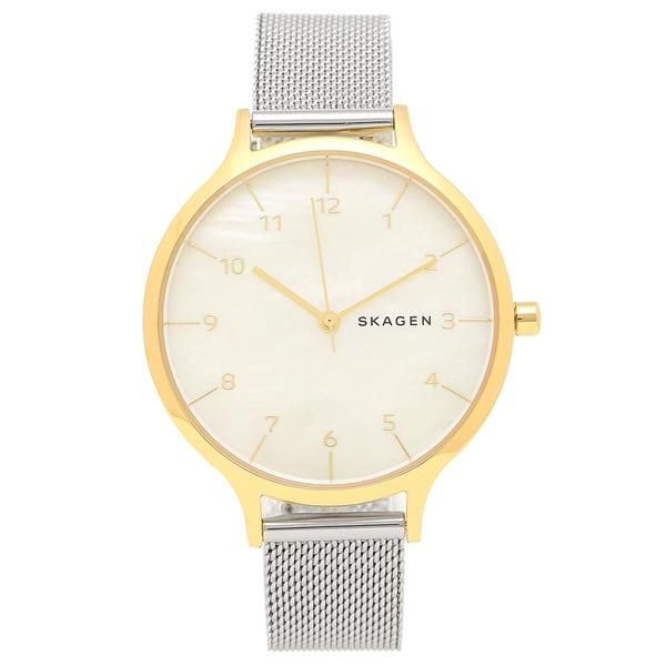 【返品OK】スカーゲン 腕時計 レディース SKAGEN SKW2702 シルバー ホワイト イエローゴールド