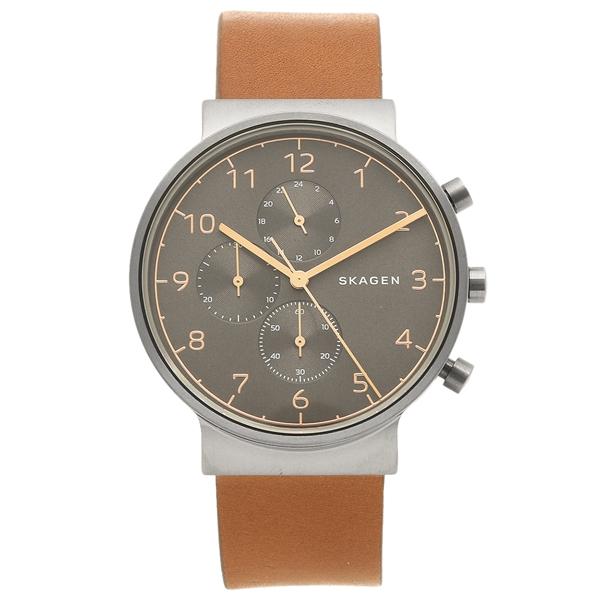 スカーゲン 腕時計 メンズ SKAGEN SKW6418 ブラウン グレー