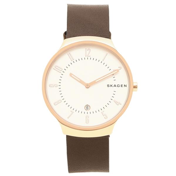 【6時間限定ポイント5倍】スカーゲン 腕時計 メンズ SKAGEN SKW6458 ブラウン ローズゴールド ホワイト