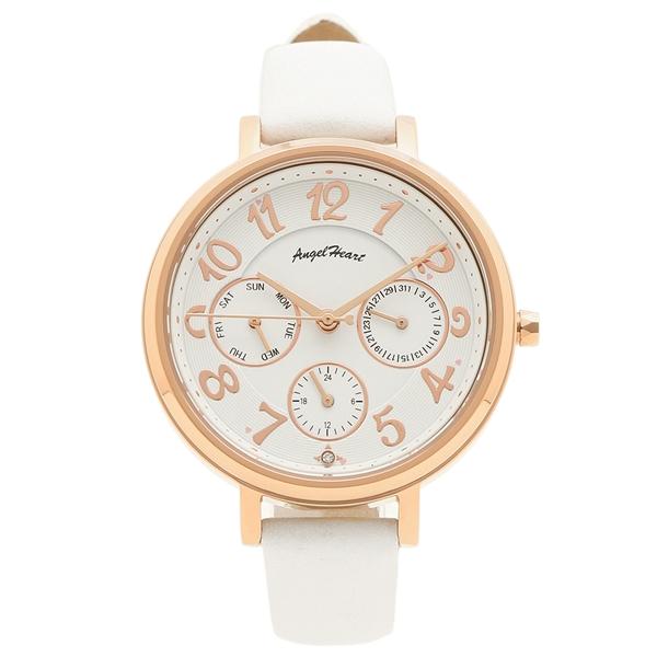 【4時間限定ポイント5倍】エンジェルハート 腕時計 レディース ソーラー ANGEL HEART WS33P-WH ピンクゴールド ホワイト