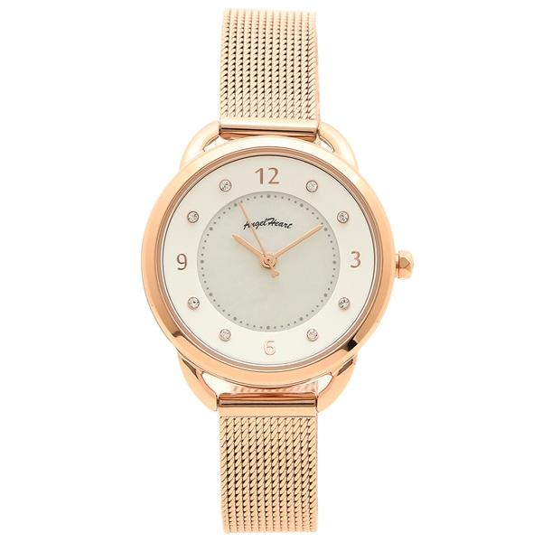 【返品OK】エンジェルハート 腕時計 レディース ソーラー ANGEL HEART YR31PG ピンクゴールド ホワイト
