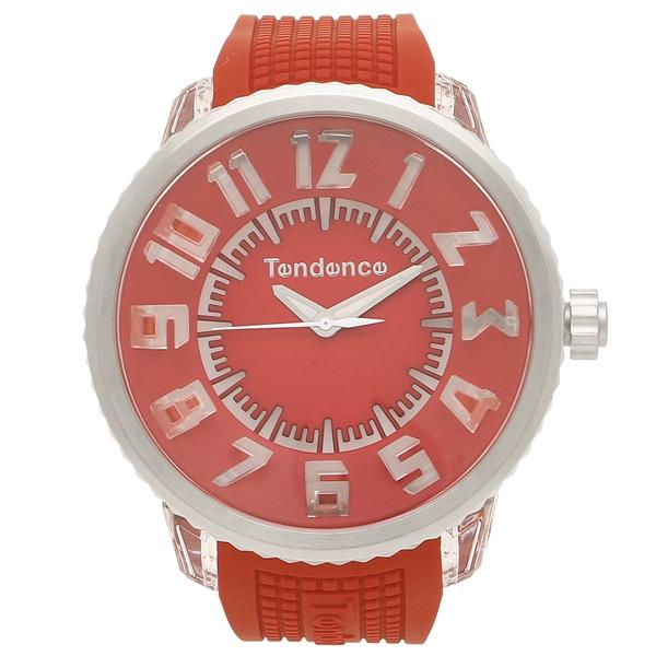 【24時間限定ポイント5倍】テンデンス 腕時計 レディース/メンズ TENDENCE TY532005 レッド シルバー