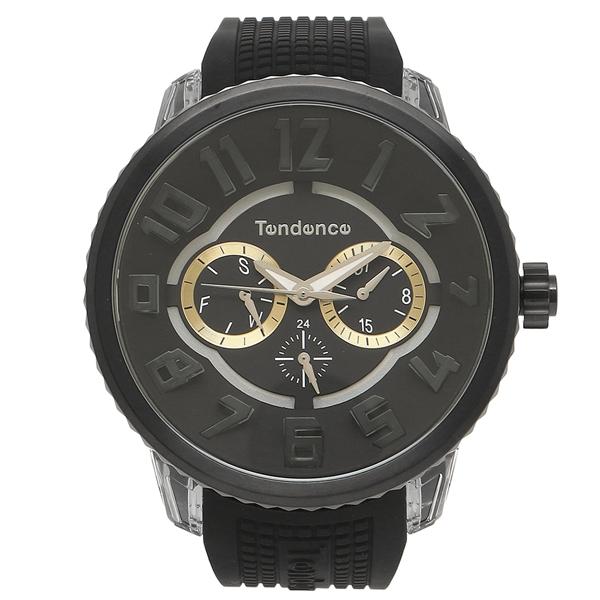 【返品OK】テンデンス 腕時計 レディース/メンズ TENDENCE TY562001 ブラック シルバー