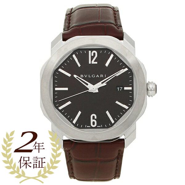 ブルガリ 腕時計 メンズ 自動巻き BVLGARI OC41C1SLD ブラウン シルバー