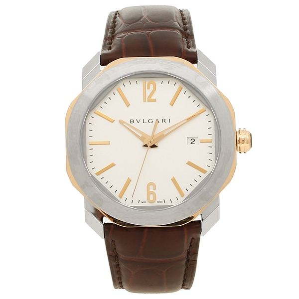 ブルガリ 腕時計 メンズ 自動巻き BVLGARI OC41C6SPGLD ホワイト シルバー