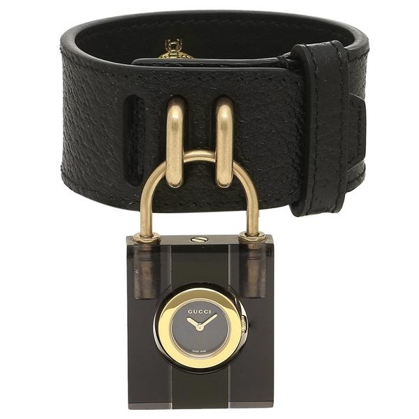 【4時間限定ポイント5倍】グッチ 腕時計 レディース GUCCI YA150506 ブラック イエローゴールド