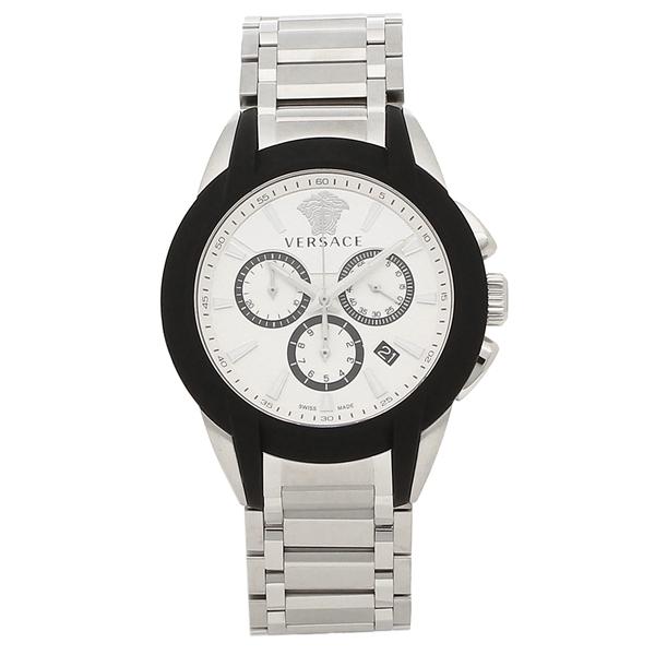 【24時間限定ポイント5倍】ヴェルサーチ 腕時計 メンズ VERSACE VEM800118 ホワイト シルバー