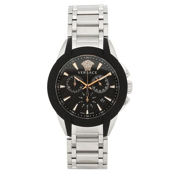 ヴェルサーチ 腕時計 メンズ VERSACE VEM800218 ブラック シルバー