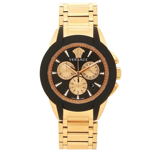 ヴェルサーチ 腕時計 メンズ VERSACE VEM800318 ブラック ピンクゴールド