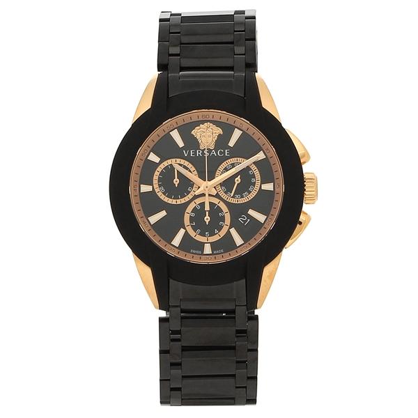 ヴェルサーチ 腕時計 メンズ VERSACE VEM800418 ブラック ピンクゴールド