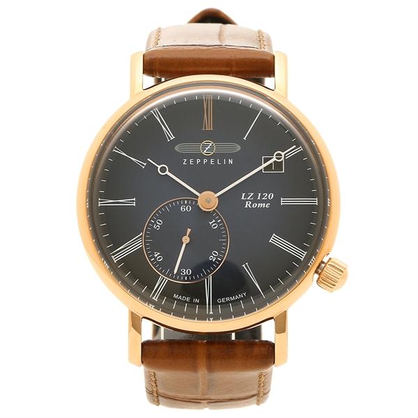 【4時間限定ポイント5倍】ツェッペリン 腕時計 メンズ ZEPPELIN 7137-3 ネイビー ブラウン