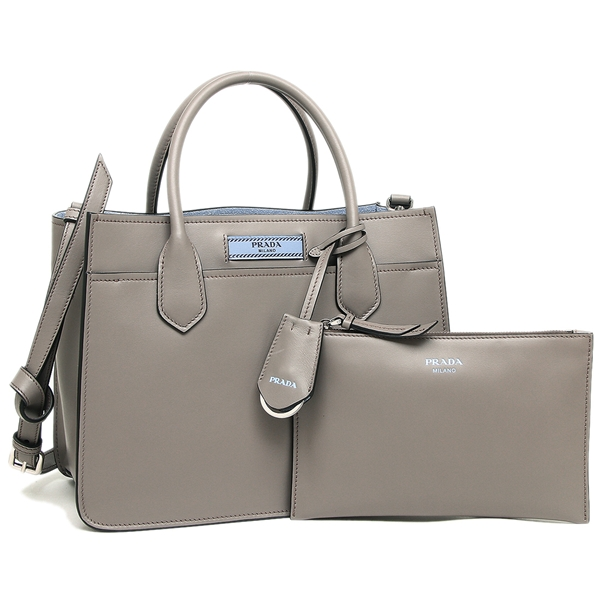 eceb1f1551b0 Prada tote bag shoulder bag Lady s PRADA 1BA178 2AIX F0213 gray light blue