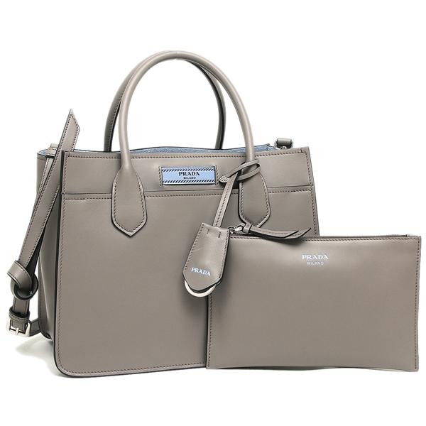 55713d751da Prada tote bag shoulder bag Lady's PRADA 1BA178 2AIX F0213 gray light blue  ...