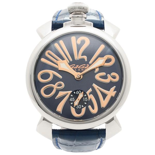 【4時間限定ポイント5倍】ガガミラノ 腕時計 メンズ GAGA MILANO 5010.05S-BLU-NEW ネイビー マルチカラー シルバー