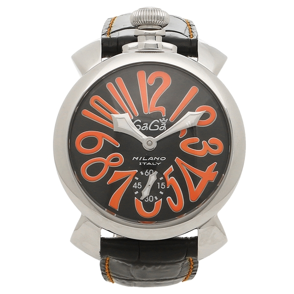 ガガミラノ 腕時計 メンズ GAGA MILANO 5010.11S-BLK ブラック シルバー レッド