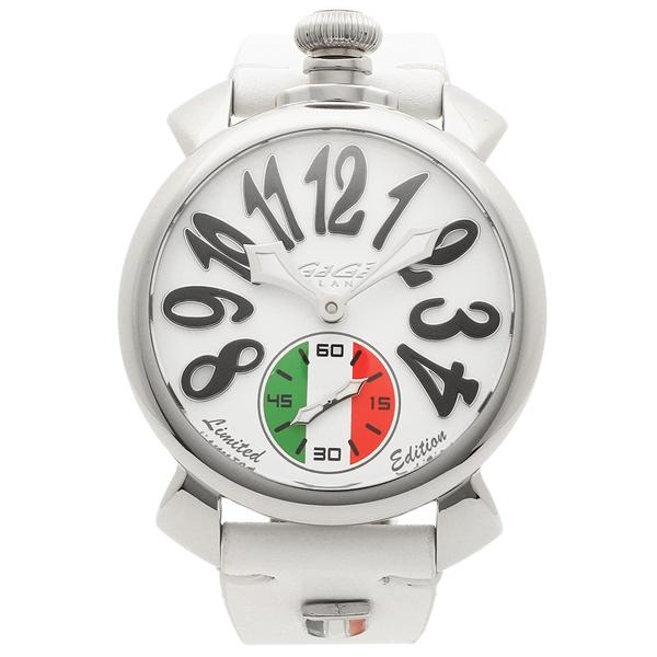 【4時間限定ポイント5倍】ガガミラノ 腕時計 メンズ GAGA MILANO 5010LEIT02 ホワイト シルバー マルチカラー