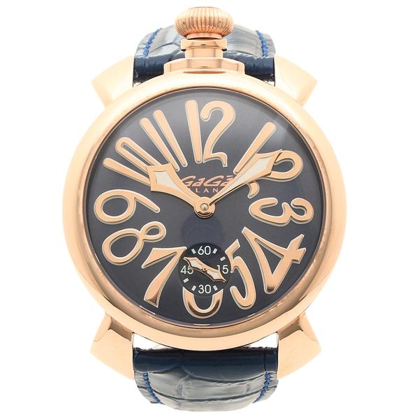 【24時間限定ポイント5倍】ガガミラノ 腕時計 メンズ GAGA MILANO 5011.05S-BLU-NEW ブルー ピンクゴールド
