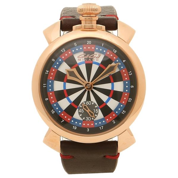 ガガミラノ 腕時計 メンズ GAGA MILANO 5011LV03 マルチカラー ブラウン ローズゴールド