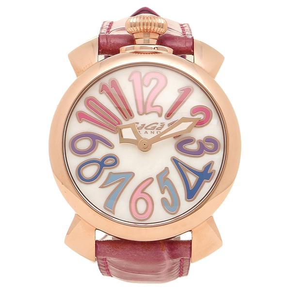 ガガミラノ 腕時計 メンズ レディース GAGA MILANO 5021.1-PIN-NEW ホワイトパール ピンク ピンクゴールド