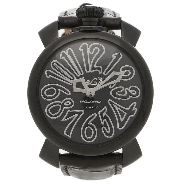 【24時間限定ポイント5倍】ガガミラノ 腕時計 メンズ レディース GAGA MILANO 5022.1-BLK ブラック ホワイト
