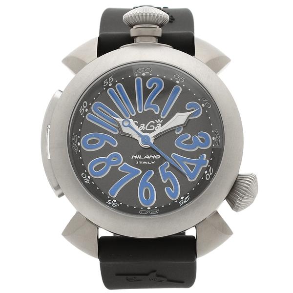 【4時間限定ポイント5倍】ガガミラノ 腕時計 メンズ GAGA MILANO 5040.4-BLKRUBBER ブラック ブルー