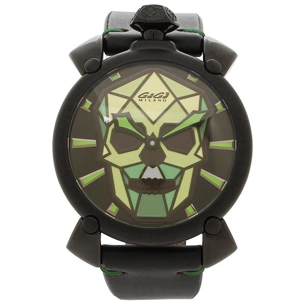 【4時間限定ポイント5倍】ガガミラノ 腕時計 メンズ GAGA MILANO 5062.03S マルチカラー ブラック