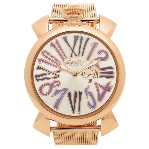 【返品OK】ガガミラノ 腕時計 メンズ GAGA MILANO 5081.3-NEW シルバー ピンクゴールド マルチカラー