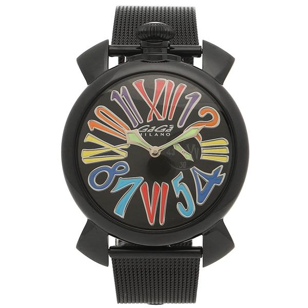 【4時間限定ポイント5倍】ガガミラノ 腕時計 メンズ GAGA MILANO 5082.1-NEW ブラック マルチカラー