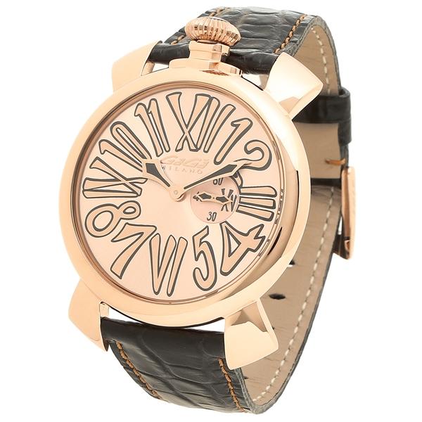 pretty nice 5878c 7fbfb ガガミラノ 腕時計 メンズ GAGA MILANO 5085.02 ピンクゴールド ブラック|ブランドショップ AXES