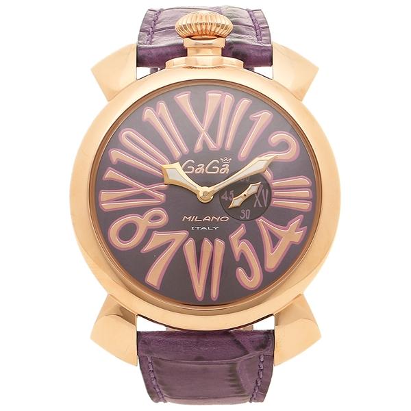【4時間限定ポイント5倍】ガガミラノ 腕時計 メンズ GAGA MILANO 5085.03 パープル ピンクゴールド