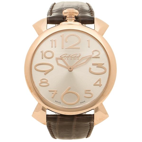 【期間限定ポイント5倍】【返品OK】ガガミラノ 腕時計 メンズ GAGA MILANO 5091.04-DBR-N ダークブラウン ピンクゴールド
