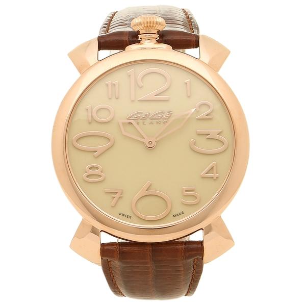 【期間限定ポイント5倍】【返品OK】ガガミラノ 腕時計 メンズ GAGA MILANO 5091.05-N ピンクゴールド ブラウン
