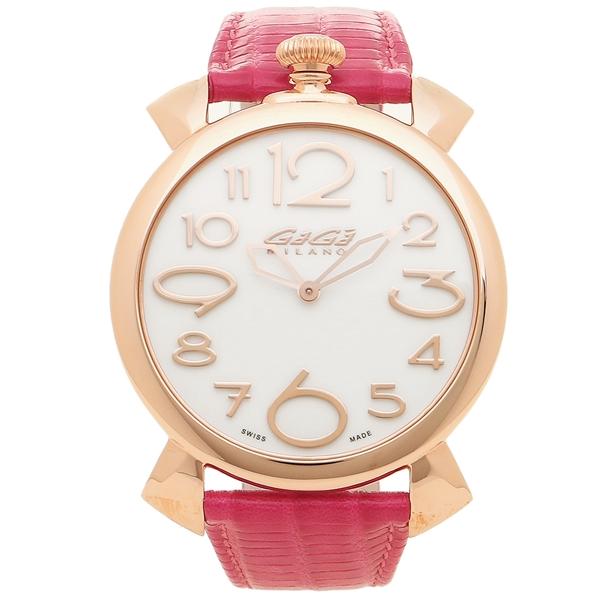 【4時間限定ポイント5倍】ガガミラノ 腕時計 メンズ GAGA MILANO 5091.06 ホワイト ピンクゴールド