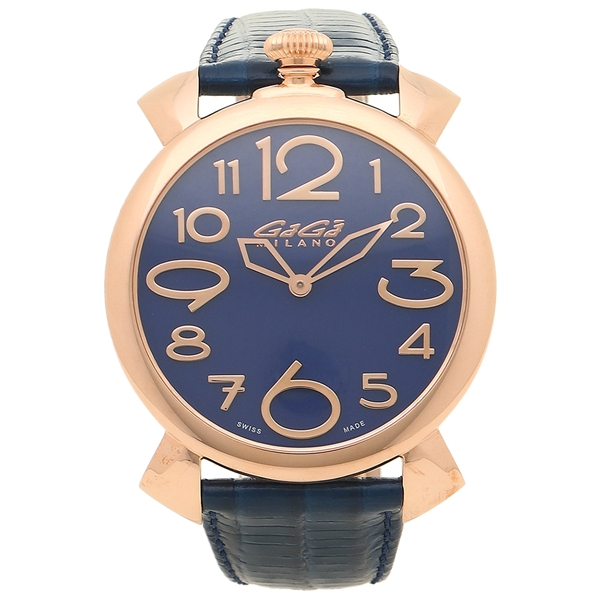 ガガミラノ 腕時計 メンズ GAGA MILANO 5091.07-N ブルー ピンクゴールド