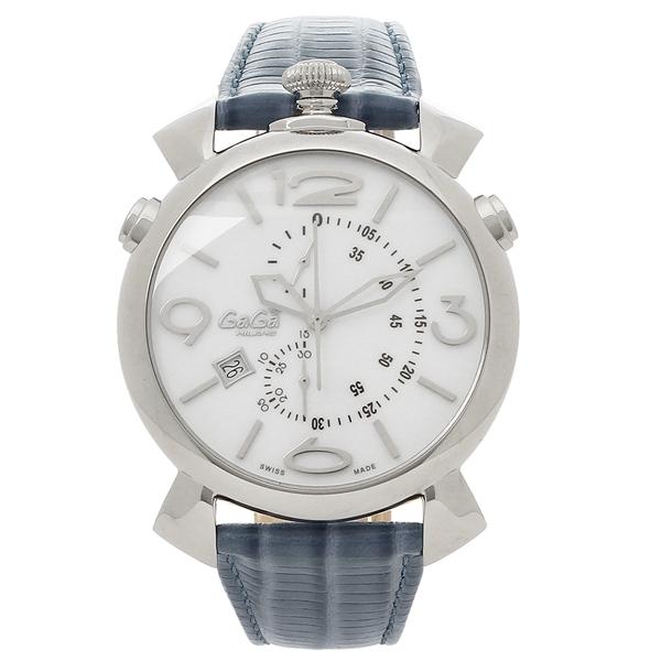 【4時間限定ポイント5倍】ガガミラノ 腕時計 メンズ GAGA MILANO 5097.02BJ-N ホワイト シルバー ブルー