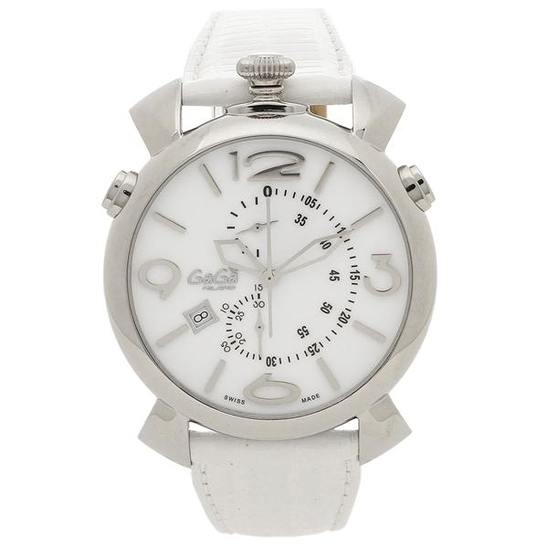 【4時間限定ポイント5倍】ガガミラノ 腕時計 メンズ GAGA MILANO 5097.02WH-N ホワイト シルバー
