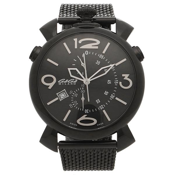 【4時間限定ポイント5倍】ガガミラノ 腕時計 メンズ GAGA MILANO 5099.01-MESH ブラック ホワイト