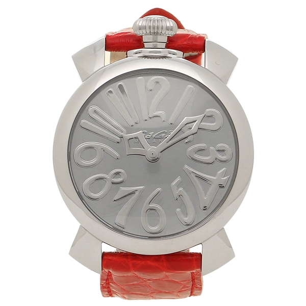 【期間限定ポイント5倍】【返品OK】ガガミラノ 腕時計 メンズ レディース GAGA MILANO 5220.MIR.01-RED シルバー レッド