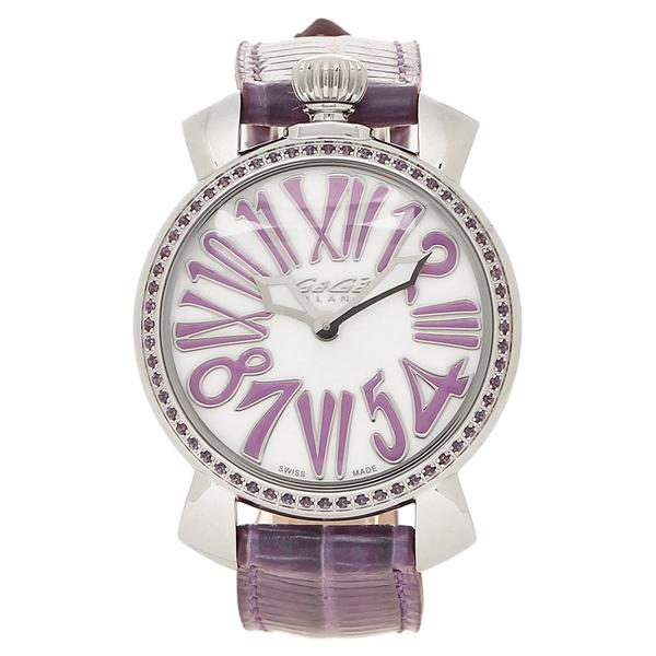 パープル レディース 腕時計 メンズ ガガミラノ シルバー GAGA 6025.01 MILANO ホワイトパール