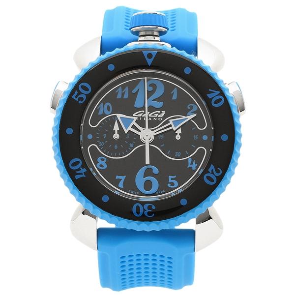 【4時間限定ポイント5倍】ガガミラノ 腕時計 メンズ GAGA MILANO 7010.03 ブラック ブルー シルバー