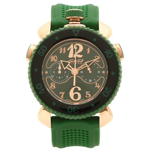 【4時間限定ポイント5倍】ガガミラノ 腕時計 メンズ GAGA MILANO 7011.02 グリーン ピンクゴールド