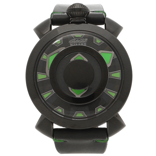 【4時間限定ポイント5倍】ガガミラノ 腕時計 メンズ GAGA MILANO 9092.01 ブラック グリーン