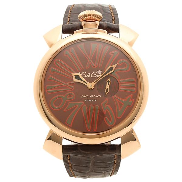 【4時間限定ポイント5倍】ガガミラノ 腕時計 メンズ GAGA MILANO M508501 ブラウン ローズゴールド