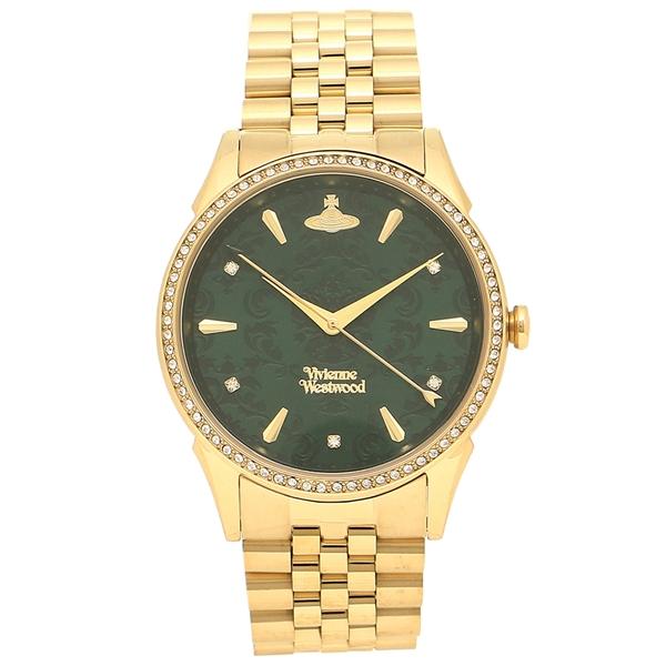 【2時間限定ポイント10倍】ヴィヴィアンウエストウッド 腕時計レディース VIVIENNE WESTWOOD VV208GDGD イエローゴールド グリーン