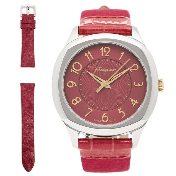 【4時間限定ポイント5倍】フェラガモ 腕時計 レディース Salvatore Ferragamo F42010017 ピンク シルバー